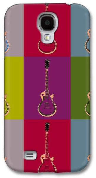Slash Galaxy S4 Cases - Les Paul Colorful Poster Galaxy S4 Case by Dan Sproul