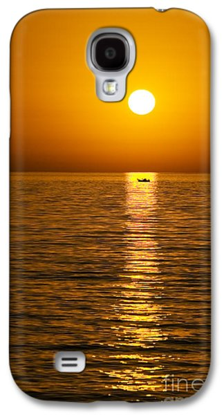 Petra Galaxy S4 Cases - Lesvos Sunset Galaxy S4 Case by Meirion Matthias