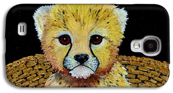 Cheetah Drawings Galaxy S4 Cases - Let Me Out  Galaxy S4 Case by Jane Pietrofitta