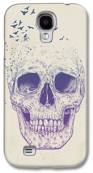 Surrealism Mixed Media Galaxy S4 Cases - Let them fly Galaxy S4 Case by Balazs Solti