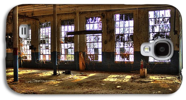 Glass Wall Galaxy S4 Cases - Let There Be Light Mary Leila Cotton Mill 1899 Galaxy S4 Case by Reid Callaway