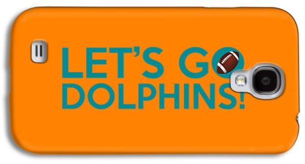 Dolphin Digital Art Galaxy S4 Cases - Lets Go Dolphins Galaxy S4 Case by Florian Rodarte