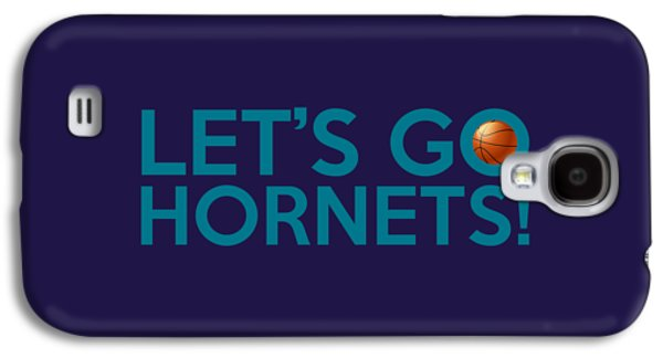 Charlotte Digital Galaxy S4 Cases - Lets Go Hornets Galaxy S4 Case by Florian Rodarte