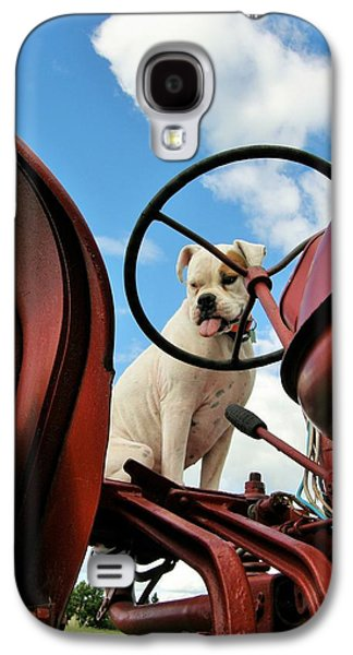 Boxer Galaxy S4 Cases - Lets Plow Galaxy S4 Case by Vicki Caucutt