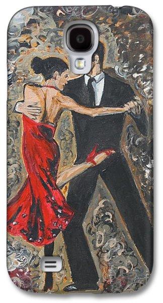 Dance Floor Paintings Galaxy S4 Cases - Lets Tango Galaxy S4 Case by Jasmine Tolmajian