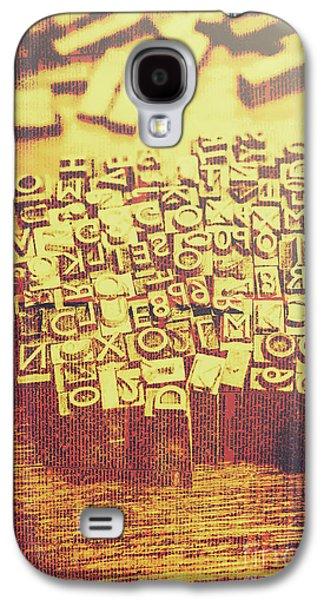 Letterpress Industrial Pop Art Galaxy S4 Case by Jorgo Photography - Wall Art Gallery