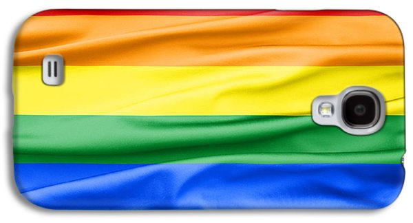 Green Galaxy S4 Cases - LGBT Rainbow Flag Galaxy S4 Case by Semmick Photo