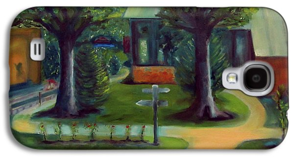 Nature Center Paintings Galaxy S4 Cases - Lichterman Nature Center Galaxy S4 Case by Karen Francis