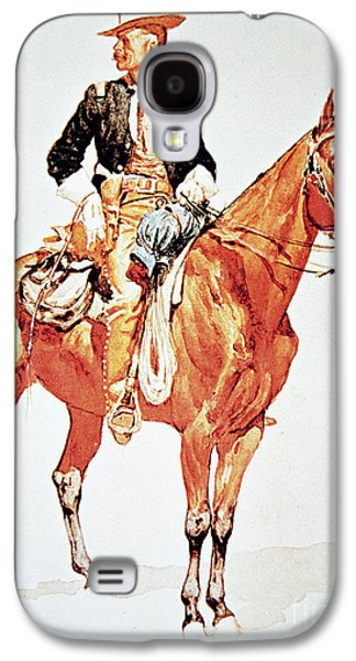 Lieutenant S C Robertson, Chief Of The Crow Scouts Galaxy S4 Case by Frederic Remington