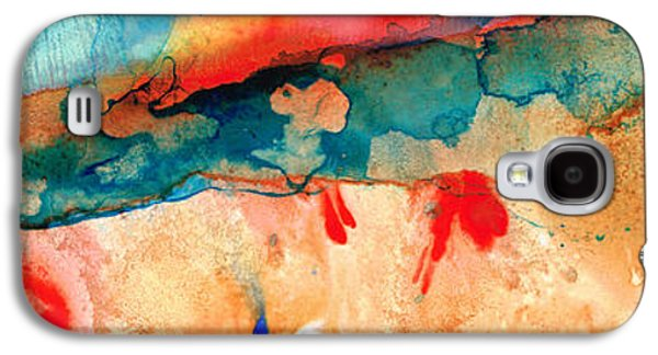 Spirituality Galaxy S4 Cases - Life Eternal Red And Green Abstract Galaxy S4 Case by Sharon Cummings