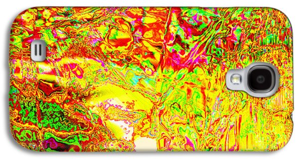 Abstract Digital Tapestries - Textiles Galaxy S4 Cases - Life On Mars Galaxy S4 Case by Laura Boyd