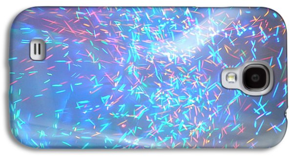 Digital Abstract Drawings Galaxy S4 Cases - Light Abstract Art Galaxy S4 Case by Artist Nandika  Dutt