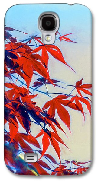 Colorful Abstract Galaxy S4 Cases - Light And Leaves Galaxy S4 Case by Jean OKeeffe Macro Abundance Art