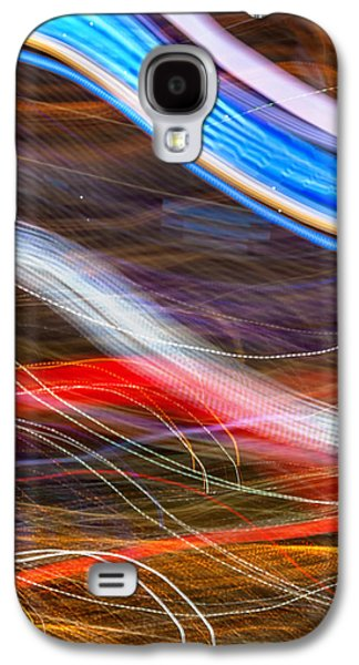 Abstracted Galaxy S4 Cases - Light Flow Galaxy S4 Case by Az Jackson