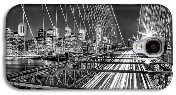 Light Trails Of Manhattan Galaxy S4 Case by Az Jackson