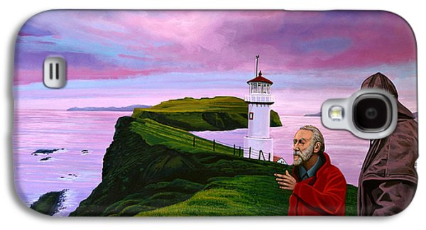 Visitor Galaxy S4 Cases - Lighthouse at Mykines Faroe Islands Galaxy S4 Case by Paul Meijering