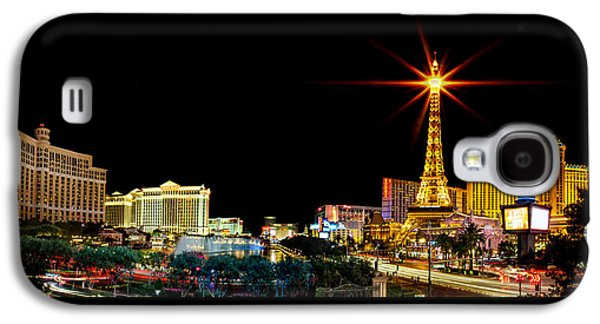 Lounge Galaxy S4 Cases - Lighting Up Vegas Galaxy S4 Case by Az Jackson