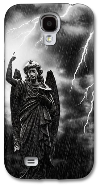 Bible Photographs Galaxy S4 Cases - Lightning Strikes the Angel Gabriel Galaxy S4 Case by Amanda And Christopher Elwell
