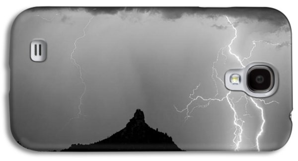 Lightning Thunderstorm At Pinnacle Peak Bw Galaxy S4 Case by James BO  Insogna