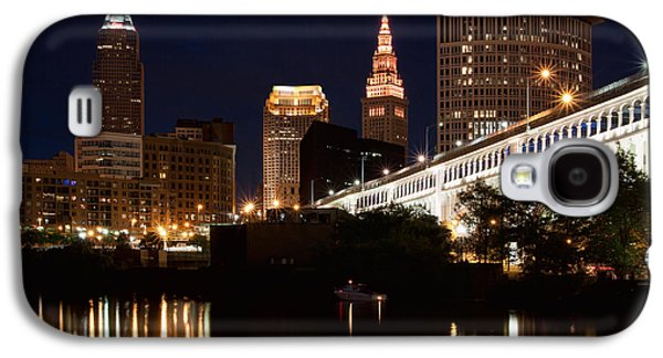 Lights In Cleveland Ohio Galaxy S4 Case by Dale Kincaid