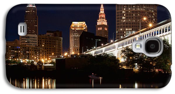 Terminal Photographs Galaxy S4 Cases - Lights In Cleveland Ohio Galaxy S4 Case by Dale Kincaid