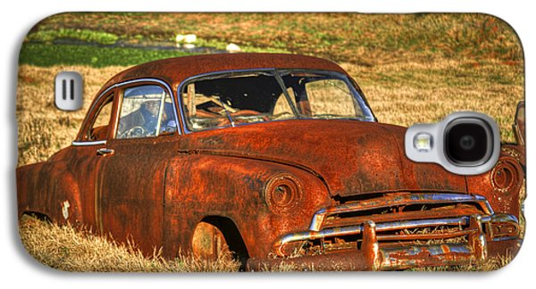 Transportation Photographs Galaxy S4 Cases - Lights Out 1951 Chevrolet Deluxe Coupe Galaxy S4 Case by Reid Callaway