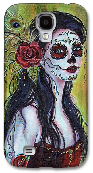 Lila Day Of The Dead Art Galaxy S4 Case by Renee Lavoie