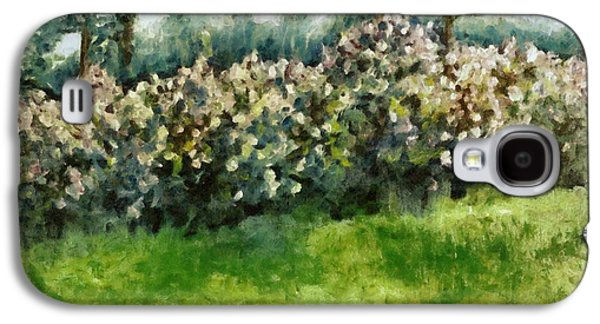 Suburban Digital Art Galaxy S4 Cases - Lilac Bushes in Springtime Galaxy S4 Case by Michelle Calkins