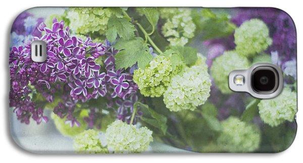 Lilacs Galaxy S4 Cases - Lilacs and Snowballs Galaxy S4 Case by Rebecca Cozart