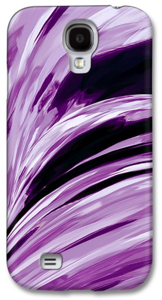 Digital Tapestries - Textiles Galaxy S4 Cases - Lilacs Galaxy S4 Case by Suzi Freeman