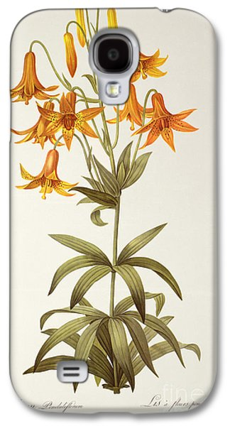 19th Galaxy S4 Cases - Lilium Penduliflorum Galaxy S4 Case by Pierre Joseph Redoute