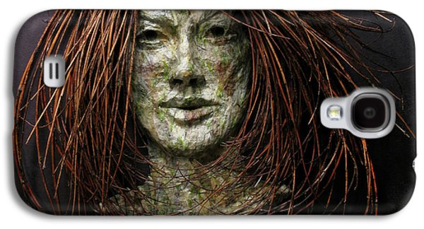 Relief Sculpture Galaxy S4 Cases - Lilly a relief sculpture by Adam Long Galaxy S4 Case by Adam Long