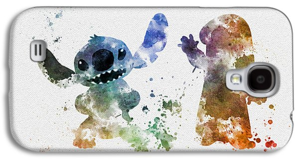 Animation Mixed Media Galaxy S4 Cases - Lilo and Stitch Galaxy S4 Case by Rebecca Jenkins