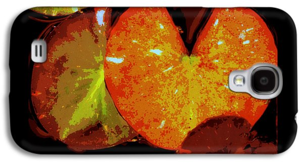 Nature Abstract Galaxy S4 Cases - Lily Pad Foliage Galaxy S4 Case by Lori Pessin Lafargue