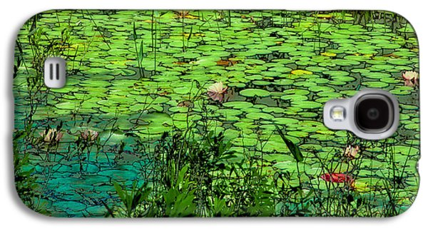 Surreal Landscape Galaxy S4 Cases - Lily Pads - An Abstract Galaxy S4 Case by David Patterson