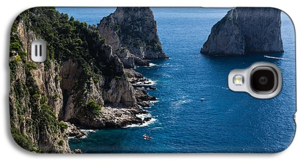Waterscape Galaxy S4 Cases - Limestone Cliffs and Seastacks - a Capri Island Vacation Galaxy S4 Case by Georgia Mizuleva