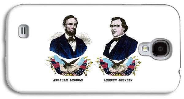Honest Abe Galaxy S4 Cases - Lincoln and Johnson Campaign Poster Galaxy S4 Case by War Is Hell Store