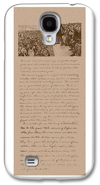 Historian Mixed Media Galaxy S4 Cases - Lincoln and The Gettysburg Address Galaxy S4 Case by War Is Hell Store
