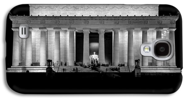 4th July Galaxy S4 Cases - Lincoln at Night Galaxy S4 Case by Neptune
