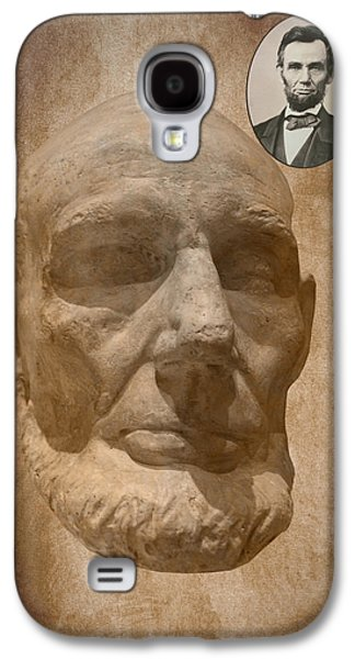 Slavery Mixed Media Galaxy S4 Cases - Lincoln Life Mask Galaxy S4 Case by Thomas Woolworth