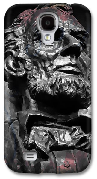 Slavery Digital Art Galaxy S4 Cases - Lincoln Stoic Galaxy S4 Case by Daniel Hagerman
