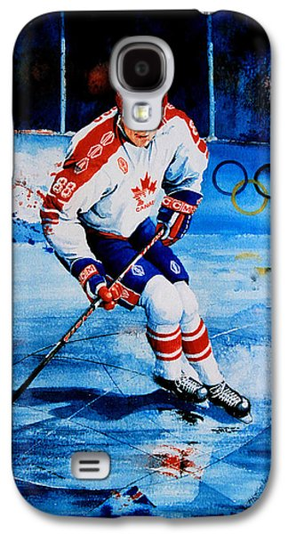 Canadian Sports Paintings Galaxy S4 Cases - Lindros Galaxy S4 Case by Hanne Lore Koehler