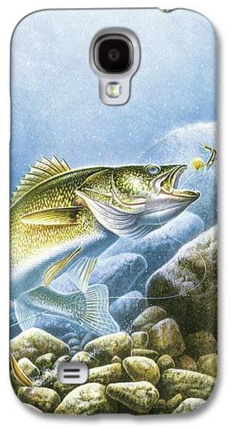 Walleye Galaxy S4 Cases - Lindy Walleye Galaxy S4 Case by JQ Licensing