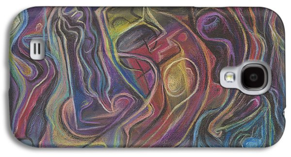 Science Fiction Pastels Galaxy S4 Cases - Line Dancing in the Twilight Zone Galaxy S4 Case by Tom Kecskemeti