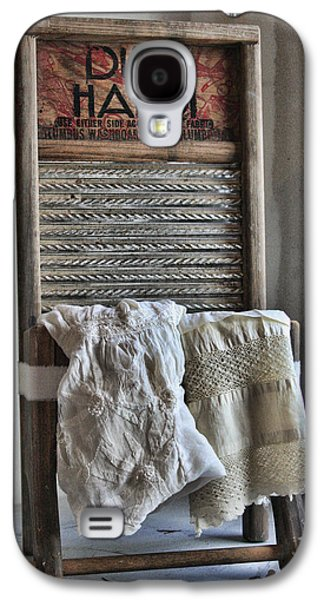Washing Machine Galaxy S4 Cases - Linen and Lace Galaxy S4 Case by Marcie  Adams