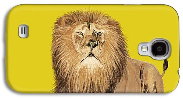 Facing Pastels Galaxy S4 Cases - Lion painting Galaxy S4 Case by Setsiri Silapasuwanchai