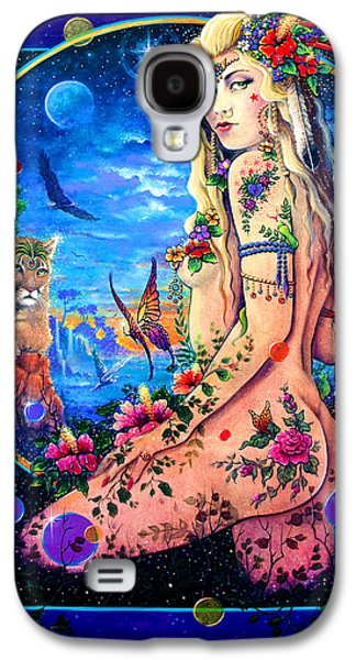 Wicca Paintings Galaxy S4 Cases - Lionessa Galaxy S4 Case by Keith Stillwagon