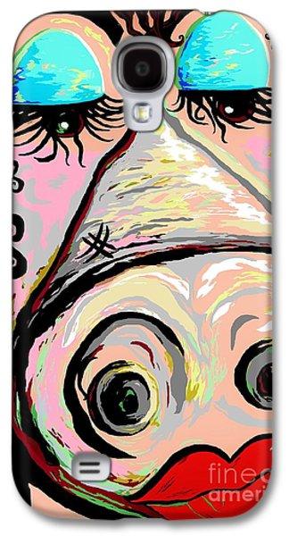 Democrat Mixed Media Galaxy S4 Cases - Lipstick on a Pig Galaxy S4 Case by Eloise Schneider