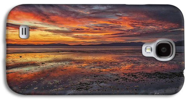 Sunset Abstract Galaxy S4 Cases - Listen Galaxy S4 Case by Mitch Shindelbower