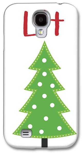 Lit Christmas Tree- Art By Linda Woods Galaxy S4 Case by Linda Woods